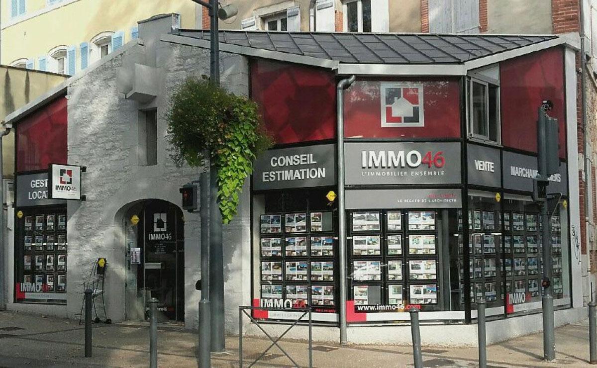 Photographie de l'agence immobilière Immo46 à Cahors dans la région Midi-Pyrénées.