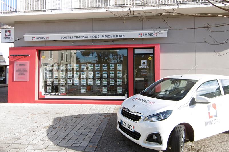 Photographie de l'agence immobilière Immo46 à Prayssac dans la région Midi-Pyrénées.